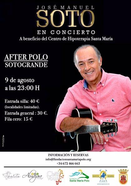 TorneoPolo.- José Manuel Soto actuará el 9 de agosto en el Santa María Polo Club