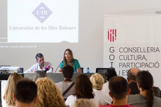 Francesc Roger e Inma Bianchi, del IEB y Arte Visión