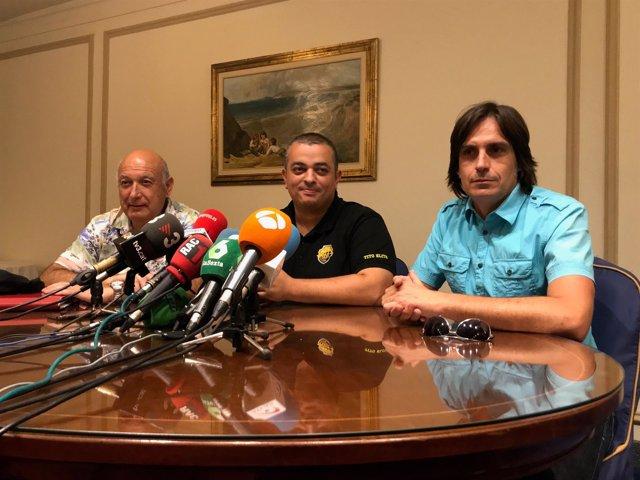 Representantes de taxistas de Barcelona