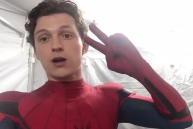 Tom Holland en Spider-Man: Lejos de casa