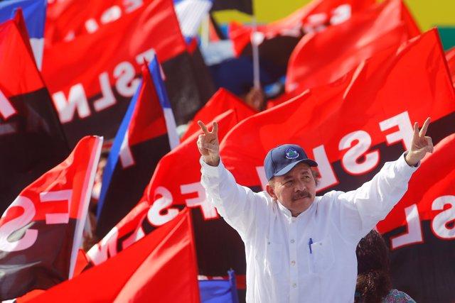 Ortega durante la celebración del 39 aniversario de la Revolución Sandinista