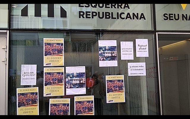 Iceta se solidariza con ERC y condena 'firmemente' la acción de los CDR en su sede