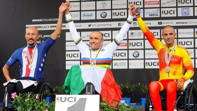 El ciclista español Sergio Garrote, bronce en el Mundial de ciclismo adaptado