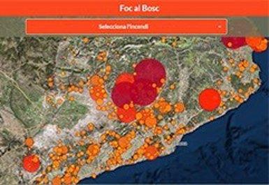 Una app mostra els efectes dels incendis forestals a Catalunya des del 1986 (GENERALITAT DE CATALUNYA)