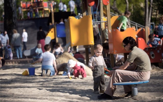 Normas de comportamiento para padres e hijos en parques infantiles