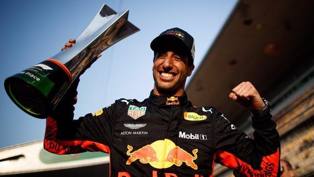 El piloto australiano de Fórmula 1 Daniel Ricciardo en el Gran Premio de China
