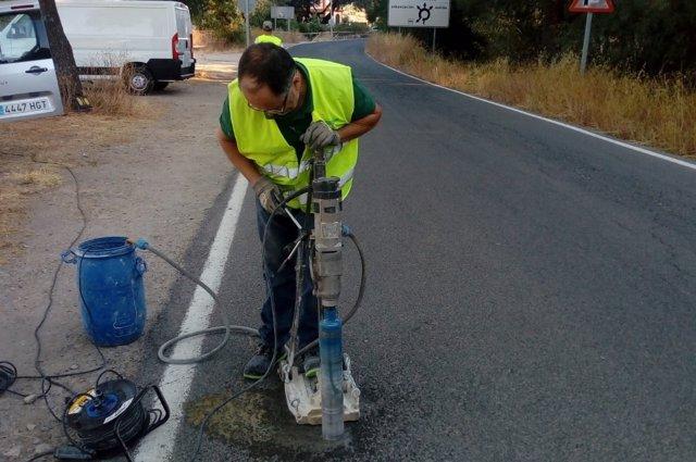 Obras en la carretera A-373 en Ubrique