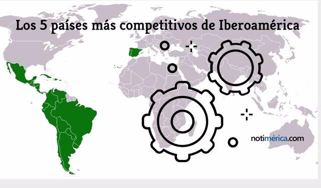 Iberoamérica y sus países más competitivos