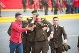 Uno de los militares heridos durante el supuesto ataque contra Maduro