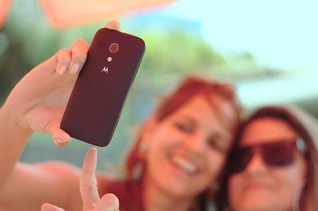 Selfie, móvil, foto