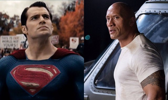 Superman contra Black Adam de Dwayne Johnson