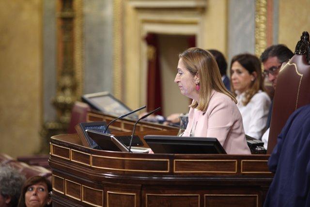 Ana Pastor durante el pleno en el Congreso