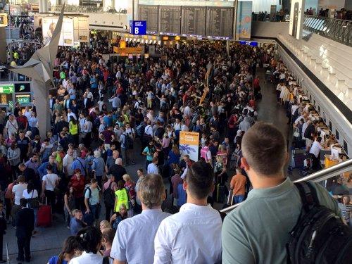 Evacuación del aeropuerto de Frankfurt