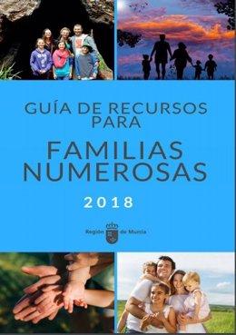 Portada de la guía de recursos para familias numerosas
