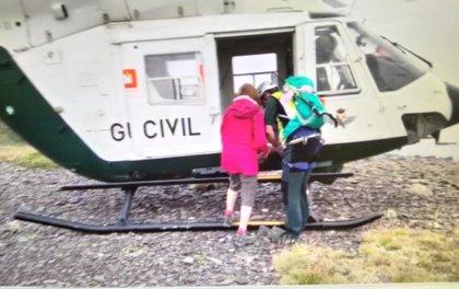 Rescatada una mujer en el Moncayo, tras caerse cuando se hacía una foto, cerca de la cima