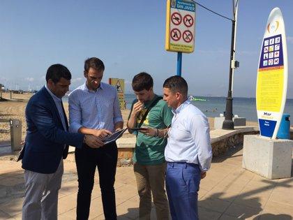 La Manga estrena un servicio gratuito de Wifi en la playa Mistral y la cala del Pino