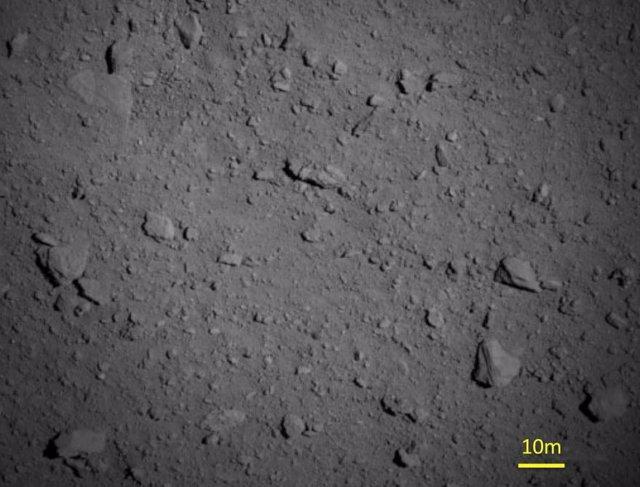 Superficie del asteroide Ryugu
