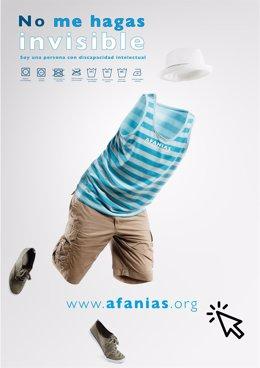 Cartel de la campaña de Afanias 'No me hagas invisible'