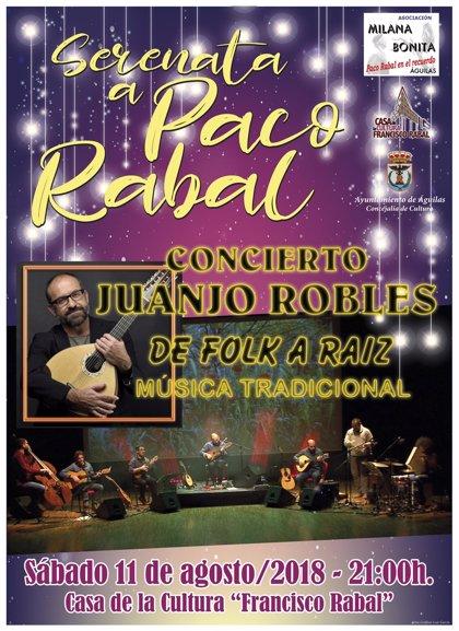 Milana Bonita cierra sus actividades estivales con una serenata a Paco Rabal este sábado a cargo de Juanjo Robles