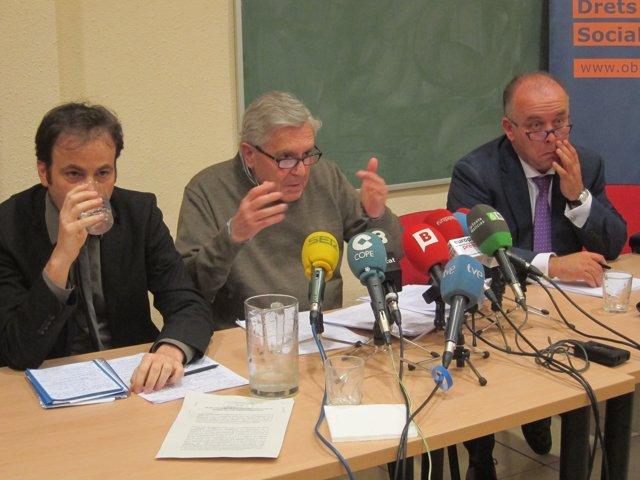 Jaume Asens, C. J. Villarejo i l'advocat Gonzalo Boye