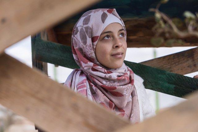 Adolescente siria en Líbano