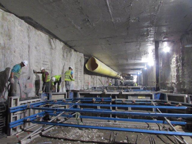 Obras metro de Málaga en Atarazanas