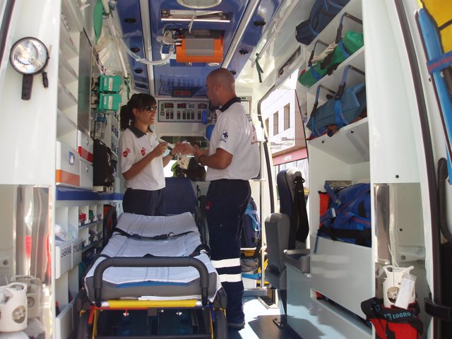 Ambulancia sanitarizada del SUC