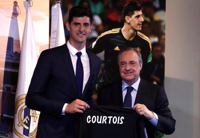 Real Madrid Thibaut Courtois Florentino Pérez