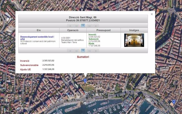 El Govern lanza un mapa de consulta para visualizar los proyectos europeos que se llevan a cabo en Baleares