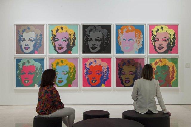 """MALAGA (Spain), Mayo 2018-Exposicion """"Warhol. El arte mecanico"""". Museo Picasso M"""