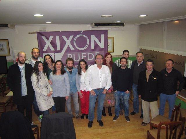 Mario Suárez, Podemos Xixón