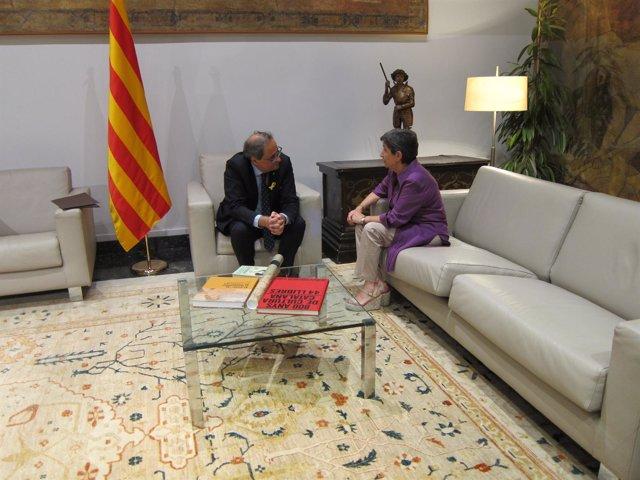 Quim Torra se reúne con Teresa Cunillera en la Generalitat