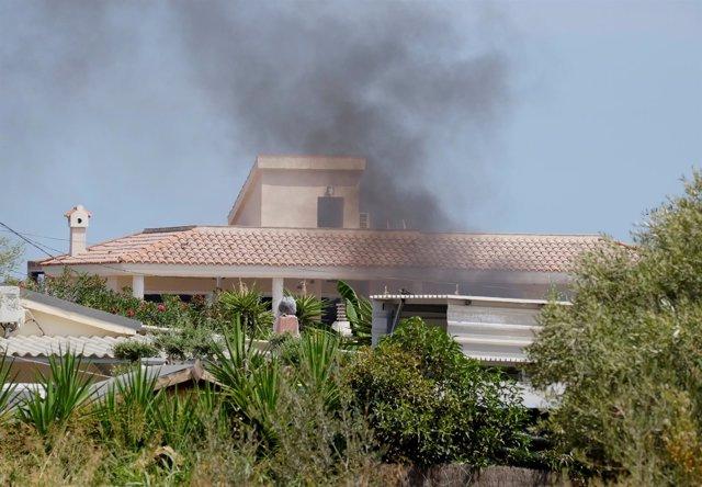 Casa de Alcanar donde los terroristas prepararon los atentados
