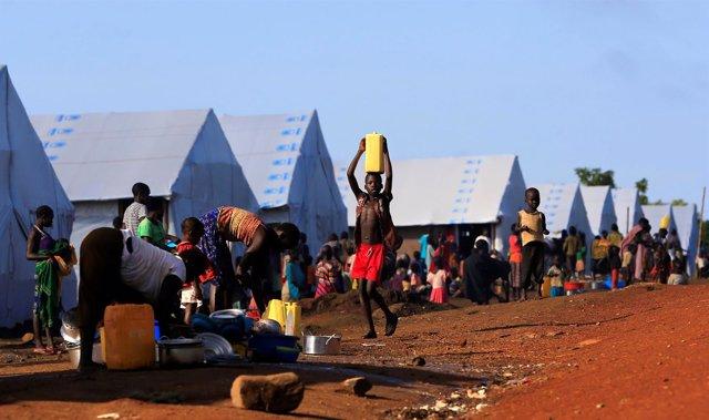 Refugiados sursudaneses en Lamwo (Uganda)