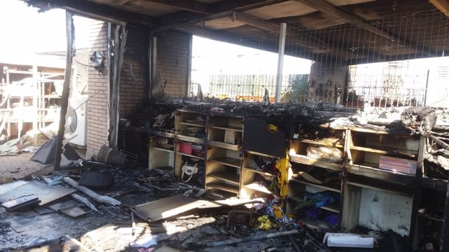 Un incendio en una vivienda en Utebo causa graves daños