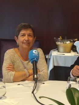 Teresa Cunillera durant una entrevista a la COPE