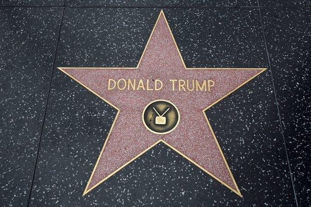 Estrella de Donald Trump en el Paseo de la Fama de Hollywood