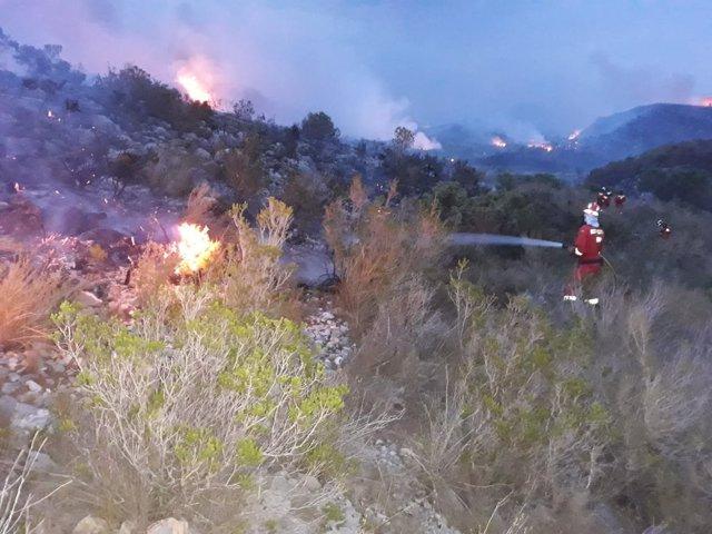 Incendi a Llutxent