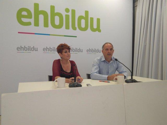 Bakartxo Ruiz y Adolfo Araiz, de EH Bildu