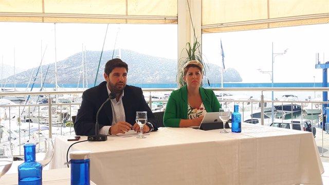 López Miras y Arroyo, en la rueda de prensa