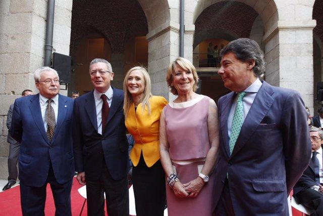 Joaquín Leguina, Gallardón, Cifuentes, Esperanza Aguirre e Ignacio González