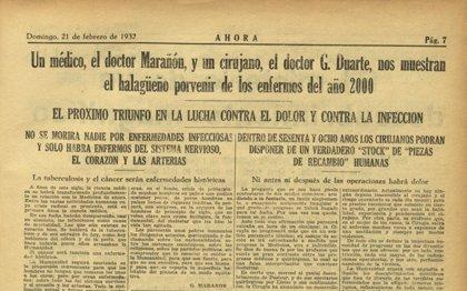 """Gregorio Marañón, en 1932: """"El cáncer en el año 2000 será una enfermedad histórica"""""""