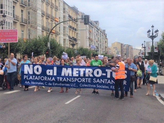 Manifestación contra el MetroTUS del 19 de julio de 2018