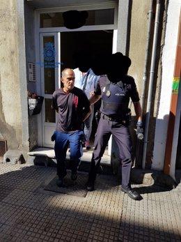 Momento de la detención del recluso.