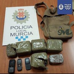 Droga intervendia Policía Local Murcia