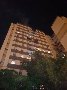 Edificio calle cabriel incendio fuego desalojo ayuntamiento málaga palmilla