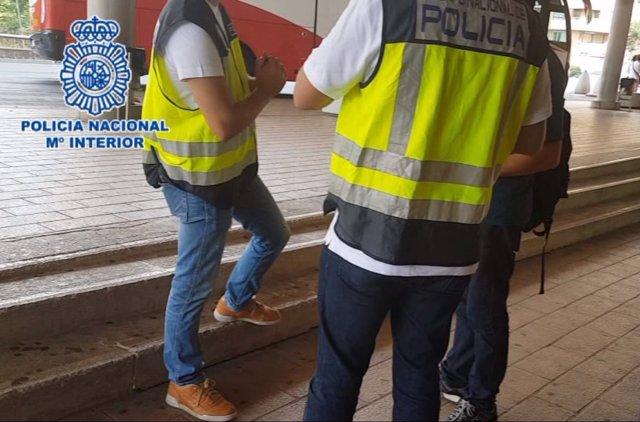 Detenidos dos carteristas a su llega a Huesca