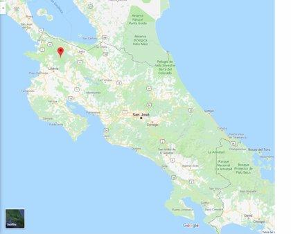 Detenidos dos sospechosos de atracar a una pareja de españoles en un parque nacional de Costa Rica