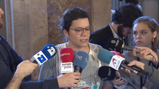 La diputada de la CUP, Natàlia Sànchez, en una imagen de archivo