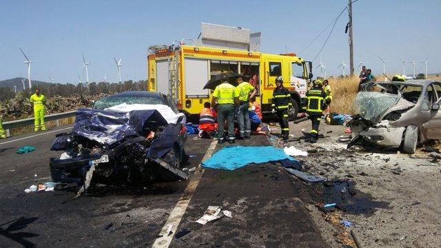 Accidente de tráfico en Tarifa